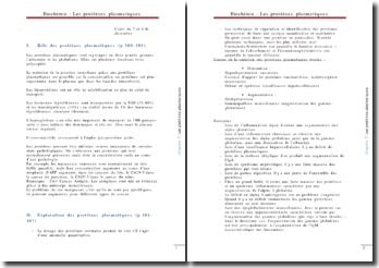 Biochimie clinique : protéines plasmatique