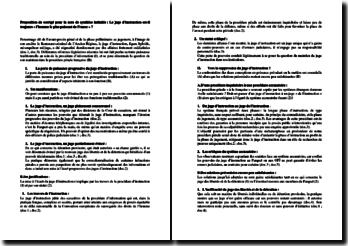Proposition de corrigé d'une note de synthèse sur le juge d'instruction
