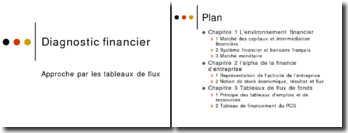 Diagnostic financier - Approche par les tableaux de flux
